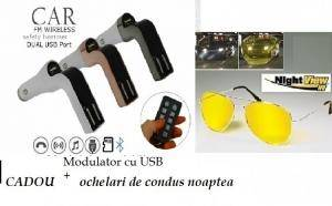 Modulator FM wireless, telecomanda