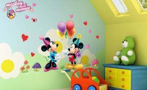 Mickey and Minnie Mouse Sticker