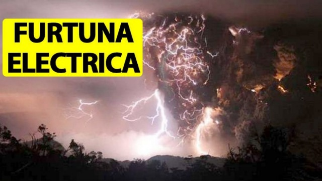 Furtuna electrica in Romania