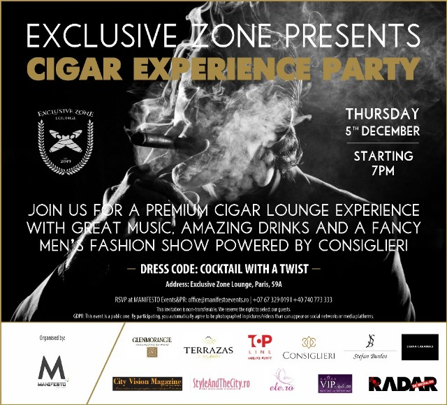 Exclusive Zone presents CIGAR EXPERIENCE PARTY